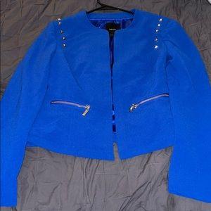 Royal blue blazer with cute detail